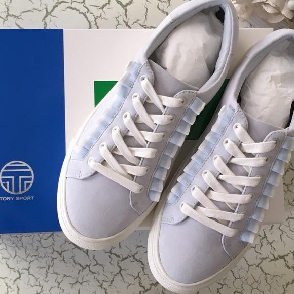 aa96738449b Tory Burch Shoes | Nib Tory Sport Blue Ruffle Sneaker 7 | Poshmark
